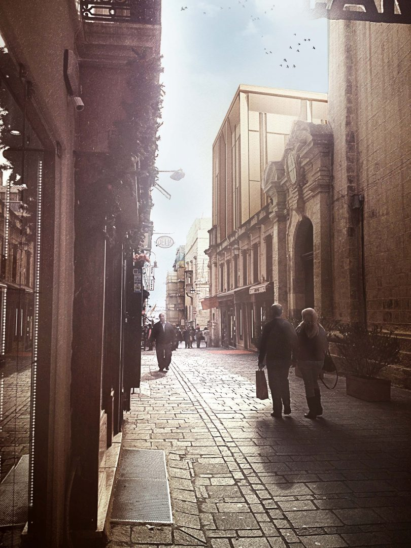 View from St. Lucia Street. Artist impression. All credits AP Valletta.