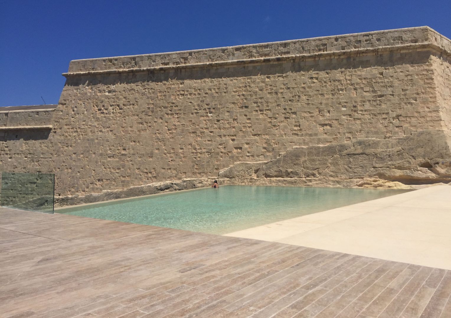 The new pool area. Credits AP Valletta.