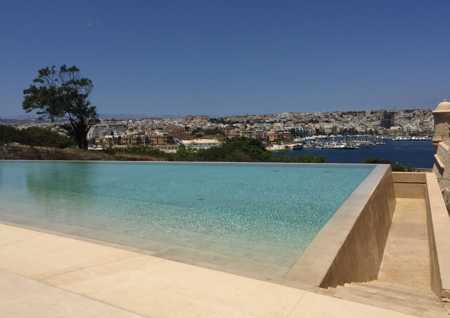The view from the new pool area. Credits AP Valletta.