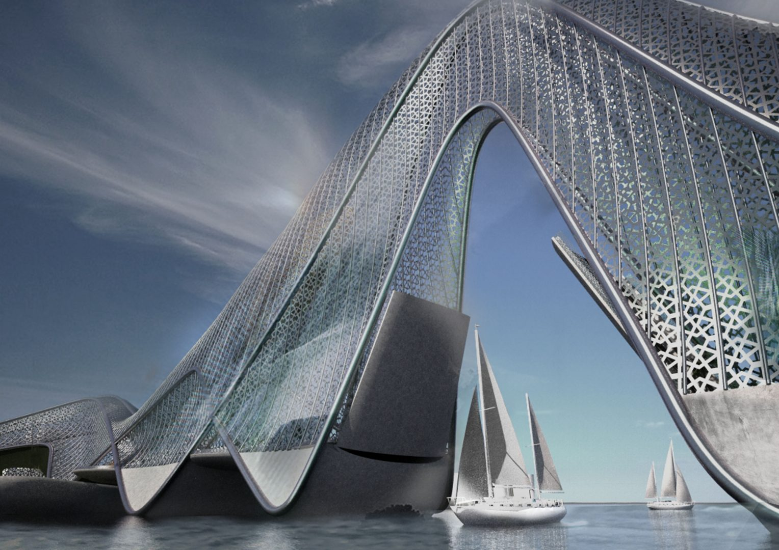 The bridge open, artist impression. Credits AP Valletta.